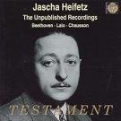 jascha heifetz - unpublished recordings - beethoven lalo chausson CD 2001 testament UK like new