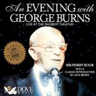 an evening with george burn CD 1992 dove audio new