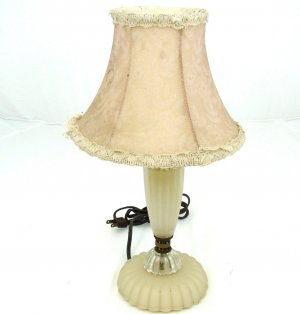 Antique Custard Glass Lamp