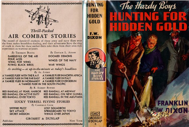 F W Dixon Hardy Boys # 5 Hunting for Hidden Gold HB/DJ