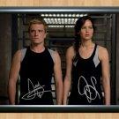 "Jennifer Lawrence Josh Hutcherson Signed Autographed Photo Print Memorabilia mo183 A2 16.5x23.4"""