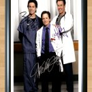 "Scrubs Michael J. Fox Zach Braff Signed Autographed Photo Poster Memorabilia 6 tv367 A3 11.7x16.5"""""