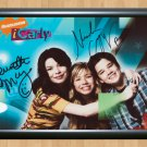 """iCarly Cast Jennette McCurdy Nathan Kress Signed Autographed Photo Poster tv820 A3 11.7x16.5"""""""""""