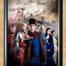 "Merlin Cast Bradley James Colin Morgan Signed Autograph Print Poster TV Show 2 tv11 A2 16.5x23.4"""