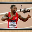 "Justin Gatlin Olympics Rio 2016 Autographed Signed Print Photo Memorabilia 1 ath10 A4 8.3x11.7"""""