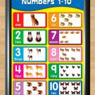 """1-10 Numbers Kids Children Educational Ready to use packaging Photo Print edu10 A4 8.3x11.7"""""""""""