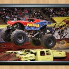 Spider man Bari Musawwir Monster Jam Truck Signed Autographed Photo Print exs19 A3 11.7x16.5""""