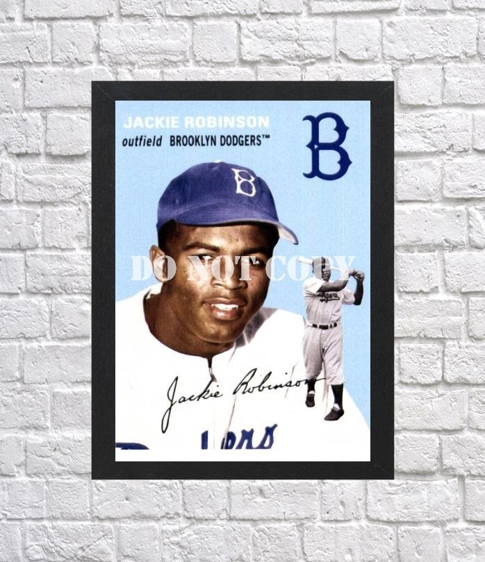 """Jackie Robinson Signed Autographed Photo Poster 3 bas47 A4 8.3x11.7"""""""""""