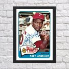 """1965 Topps Tony Gonzalez Signed Autographed Photo Poster bas21 A4 8.3x11.7"""""""""""