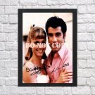 "John Travolta Olivia Newton-John Grease Signed Autographed Photo Poster 2 mo1689 A4 8.3x11.7"""""