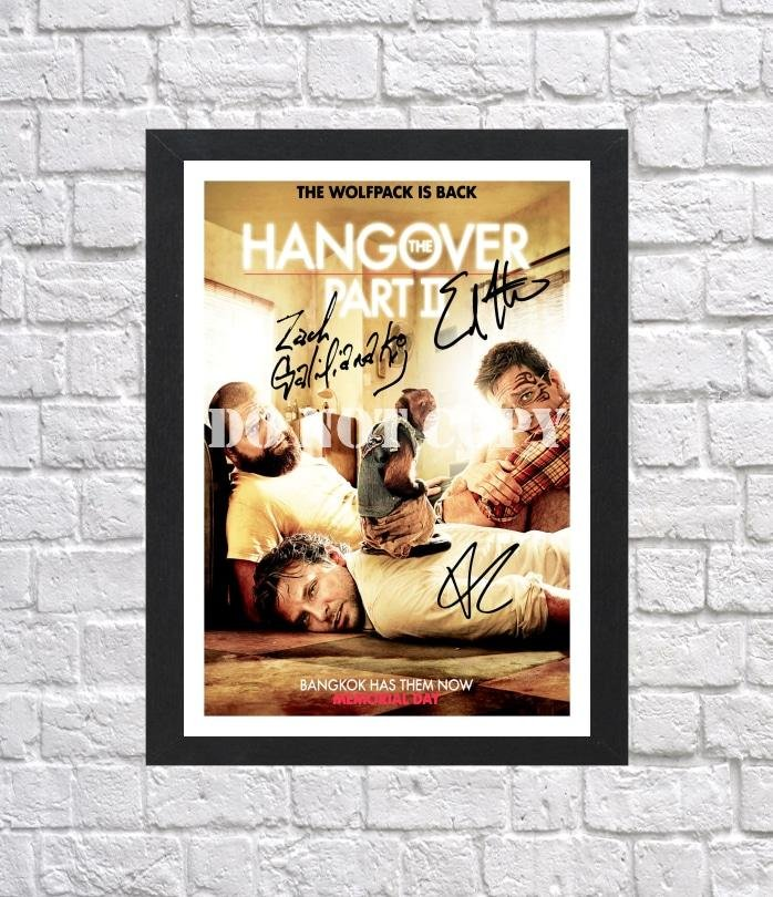 """The Hangover 2 Zach Galifianakis Ed Helms Cast Signed Autographed Photo Poster mo1598 A4 8.3x11.7"""""""""""