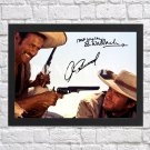 """Clint Eastwood Eli Wallach Signed Autographed Photo Poster mo1626 A3 11.7x16.5"""""""""""