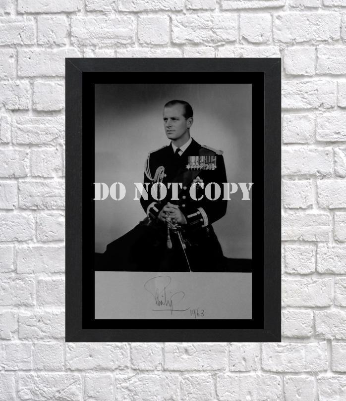 "Prince Philip Duke of Edinburgh Autographed Signed Print Photo Poster 1 h126 A3 11.7x16.5"""""