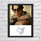 """Johnny Depp Autographed Signed Photo Poster 2 mo1153 A3 11.7x16.5"""""""""""