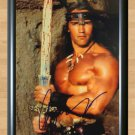 "Arnold Schwarzenegger Conan the Barbarian Signed Autographed Photo Poster 3 mo1010 A3 11.7x16.5"""""