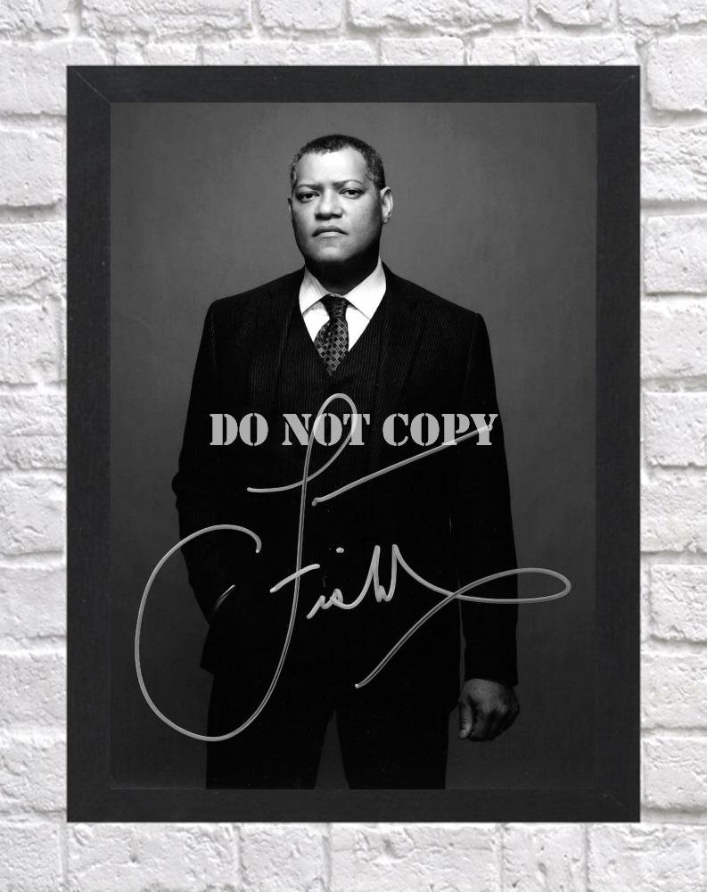 """Laurence Fishburne The Matrix Signed Autographed Photo Poster tv1070 A2 16.5x23.4"""""""