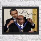 "John Lewis Barack Obama Autographed Signed Print Photo Poster h109 A2 16.5x23.4"""