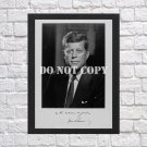 """John F Kennedy JFK Autographed Signed Print Photo Poster 3 h106 A2 16.5x23.4"""""""