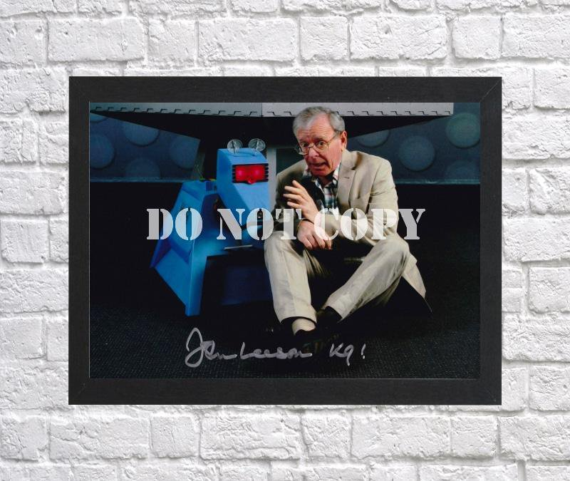 """Doctor Dr Who John Leeson Autographed Signed Print Photo Poster 12 mo1478 A2 16.5x23.4"""""""