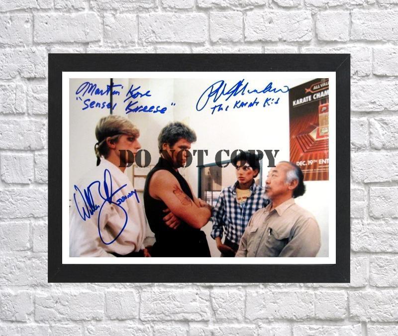 "Ralph Macchio William Zabka Karate Kid Cast Autographed Signed Photo Poster mo1262 A2 16.5x23.4"""