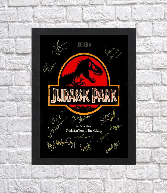 """Jurassic Park Cast Autographed Signed Photo Poster 1 mo1161 A2 16.5x23.4"""""""