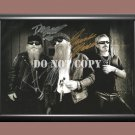"""ZZ Top Band Billy Gibbons Frank Beard Dusty Hill 12 Signed Autographed Poster Photo A3 11.7x16.5"""""""""""
