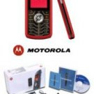 Motorola L7 Slvr Metallic Red Ultra Slim Cellular Phone (unlocked)