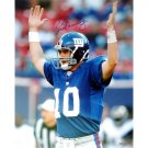 Eli Manning Autographed Giants TD Signal 16x20 Photograph