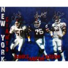 Carl Banks, Harry Carson & George Martin Triple Signed NY Giants Defense Collage 16x20 Photograph