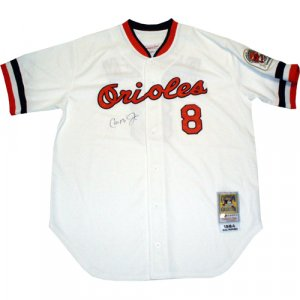 Cal Ripken Jr. 1984 Autographed On Front Orioles White Home Jersey