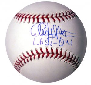 """Cleon Jones Hand Signed """"Last Out"""" Baseball"""