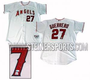 Vladimir Guerrero Hand Signed Angels Home Jersey