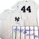 "Reggie Jackson Hand Signed ""HOF"" NYY Jersey"