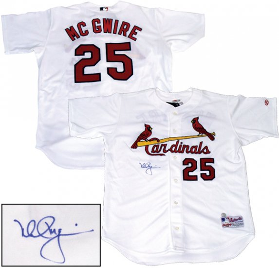 Mark McGwire Hand Signed Home Jersey