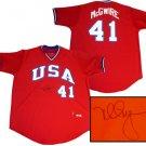 Mark McGwire Hand Signed USA Jersey
