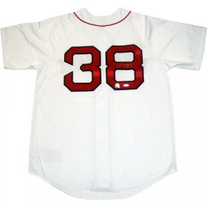 Curt Schilling Autographed On Back Boston Red Sox Replica Home Red Sox Jersey