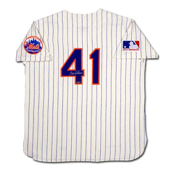 "Tom Seaver Autographed New York Mets Mitchell & Ness ""1969 Model"" Home/White Jersey (UDA)"