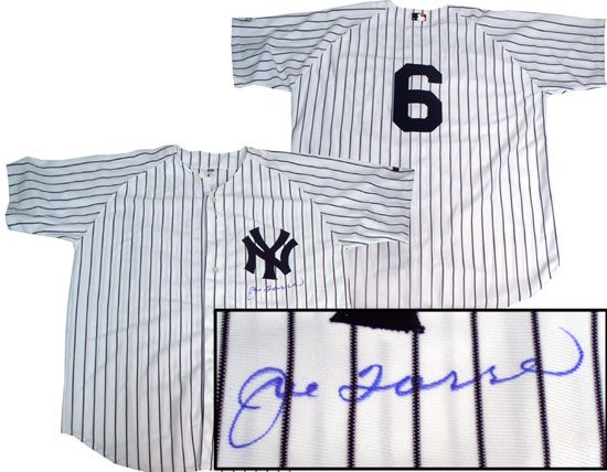 Joe Torre Hand Signed Yankees Home Jersey