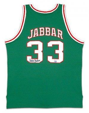Kareem Abdul-Jabbar Signed Bucks Mitchell & Ness -1971-72 Model- Away/Green Jersey (UDA)