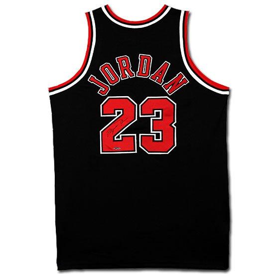 Michael Jordan Autographed Chicago Bulls Alternate/Black Jersey (UDA)