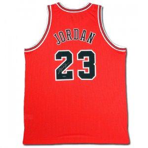 Michael Jordan Autographed Chicago Bulls Away/Red Jersey (UDA)