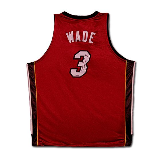 Dwyane Wade Autographed Miami Heat Alternate/Red Jersey (UDA)