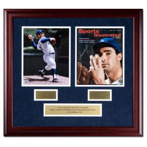 Sandy Koufax Autographed Los Angeles Dodgers Sports Illustrated Cover with 8x10 Photo - Framed (UDA)
