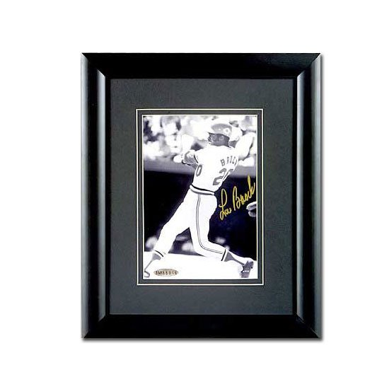 Lou Brock Autographed St. Louis Cardinals -3000th Hit- 5x7 Photo - Framed (UDA)