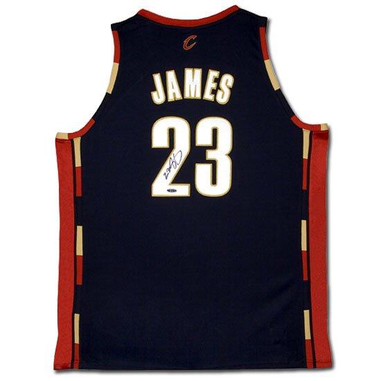 Lebron James Autographed Cleveland Cavaliers Alternate/Blue Jersey (UDA)