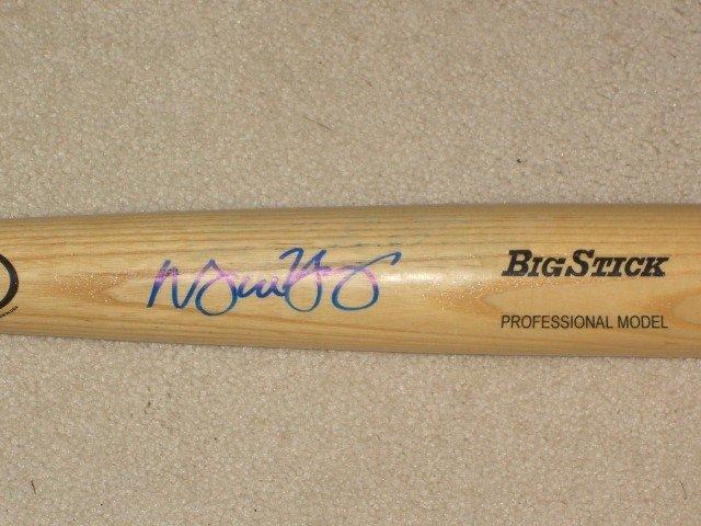 Michael Young Autographed Bat Texas Rangers
