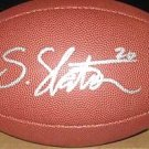 Steve Slaton Signed Wilson NFL Football