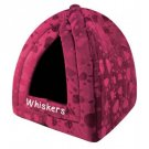 DonessVille Pyramid Pet Pod - Personalized Bed for dog or cat - MAROON