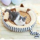 Round Plush Cat Bed House Pet Cat Puppy Mat