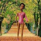Barbie Princess Pink one-shoulder pink bodysuit